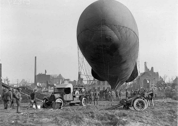 بالون هوای گرم در جنگ جهانی