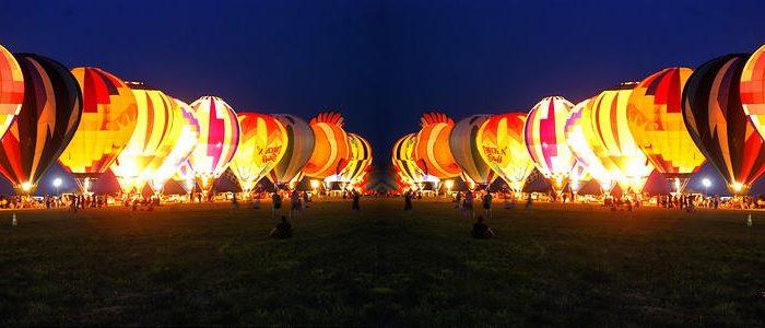 بالن سواری در شب