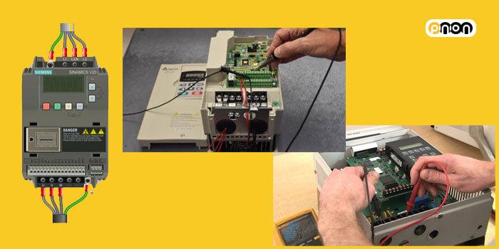 ترمینال خروجی و ورودی اینورتر یا درایو موتور و مختصات ان
