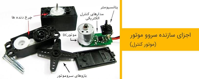 اجزا سازنده سروو موتور